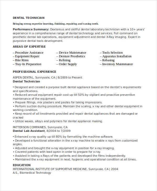 Lab Technician Resume #resumeprofile