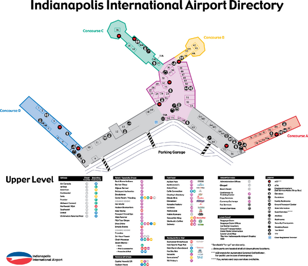Indianapolis Airport Map Indianapolis International Airport Terminal Map | O/our Holiday in