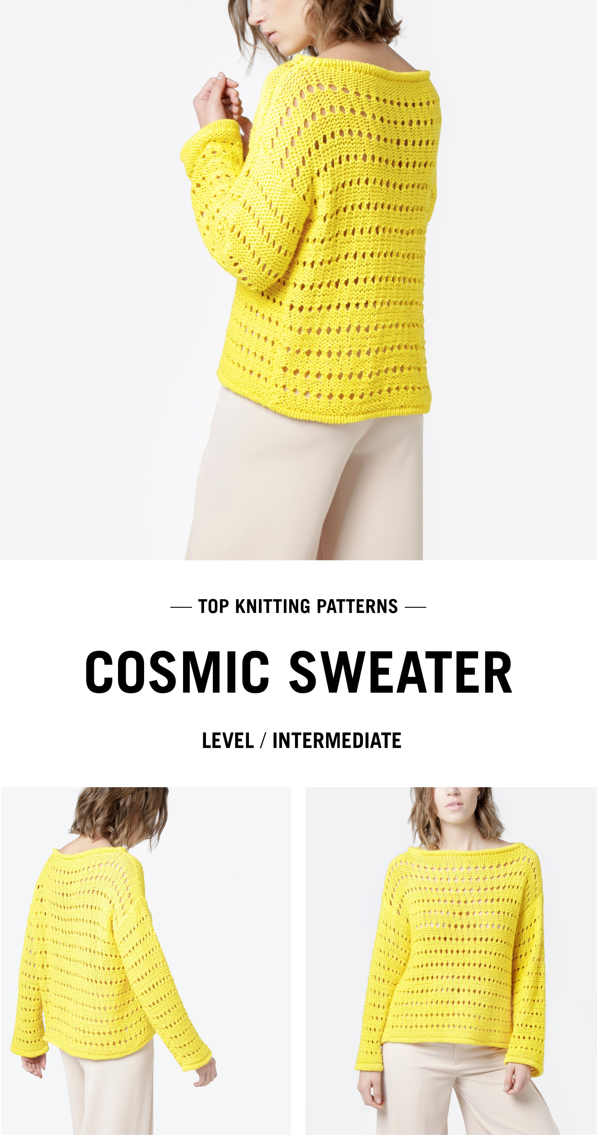 SWEATER KNITTING PATTERN | woolandthegang.com | Lanitas | Pinterest ...