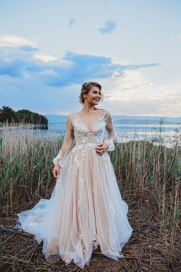 The stunning Willowy Saros as seen on the Polka Dot Bride Shot by Beth Fernley... - Bridal Gowns#beth #bridal #bride #dot #fernley #gowns #polka #saros #shot #stunning #willowy