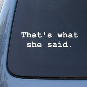 That/'s What She Said The Office Bumper Sticker Decal