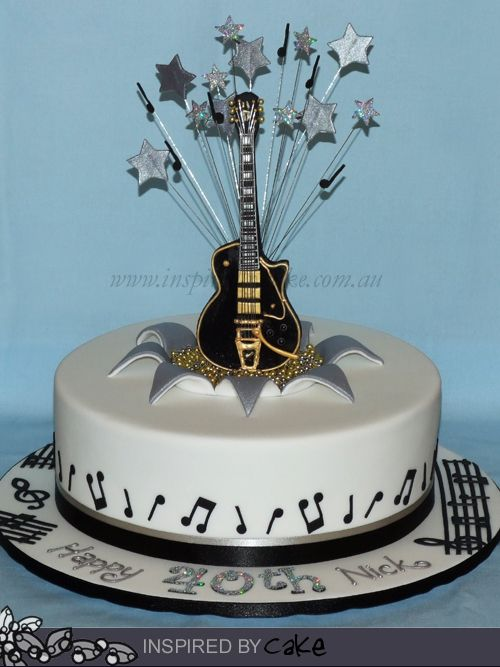 Guitar cake cake ideas Pinterest Guitar cake and Cake