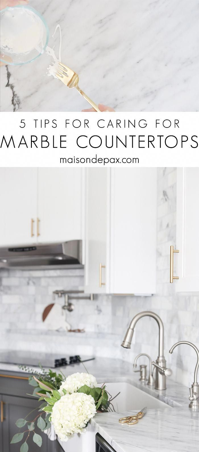 How to Care for Marble Countertops - Maison de Pax #marblecountertops