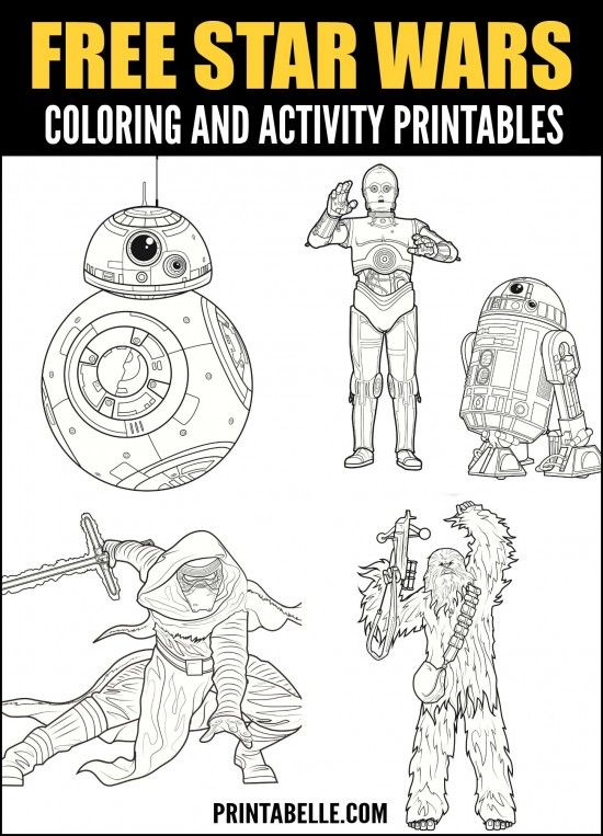 Free Star Wars Printable Coloring and Activity Pages in