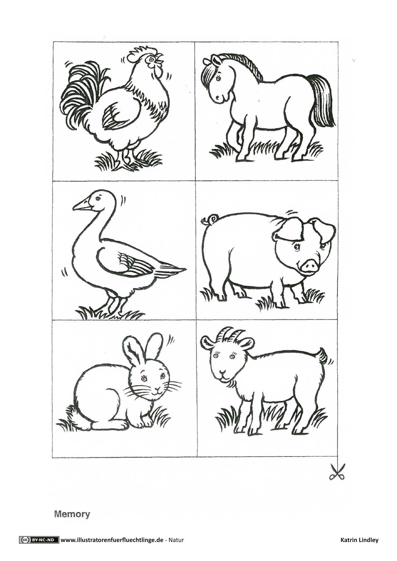 Einzigartig Memory Drucken Farbung Malvorlagen Malvorlagenfurkinder Farm Animal Coloring Pages Farm Animals Farm Animals Preschool