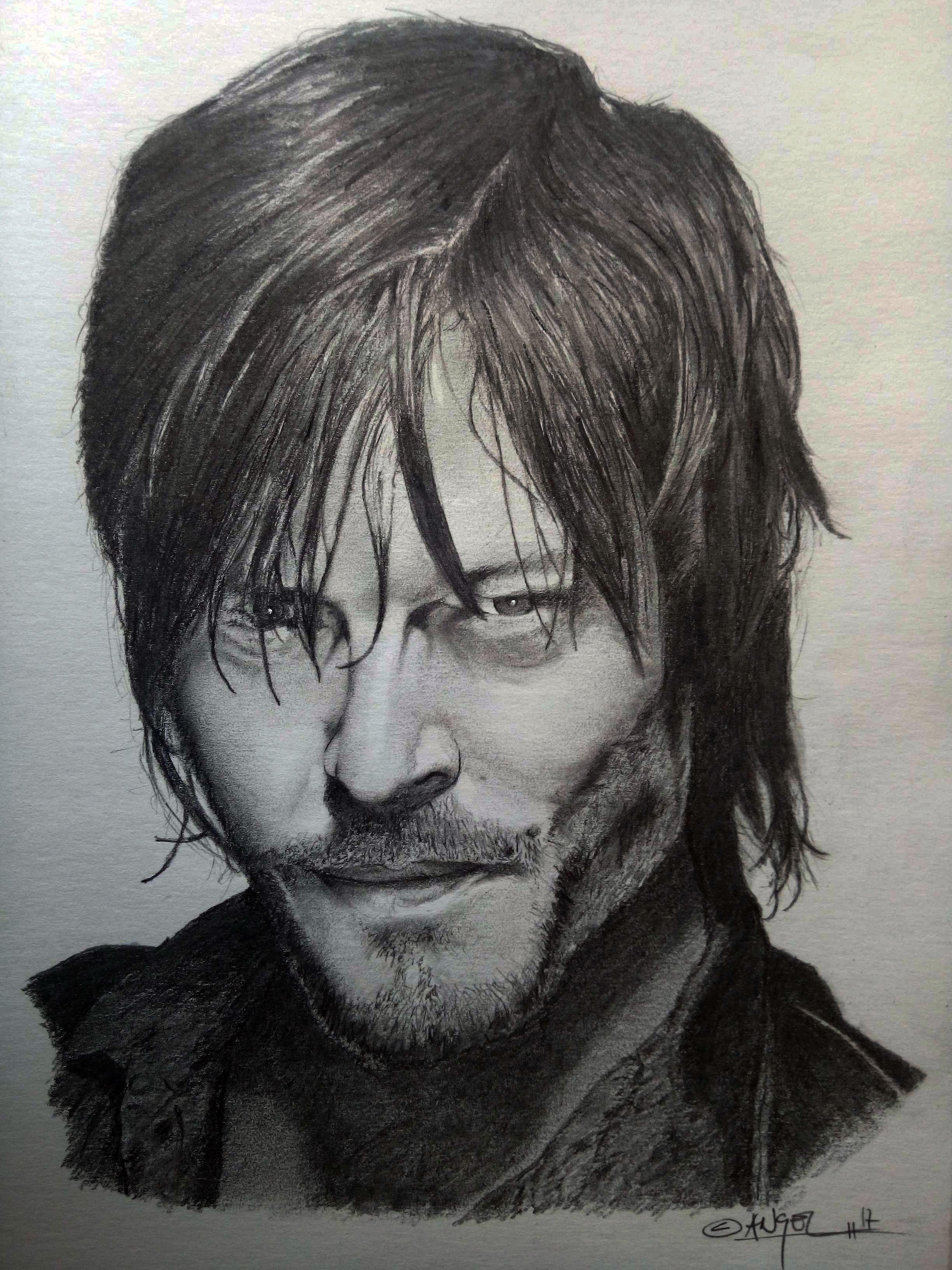 Twd Daryl A Lapiz Hollywood Art Art Male Sketch