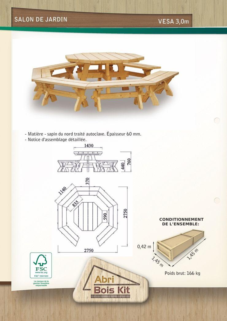 Salon de jardin en bois massif pour les gloriettes – Salon de ...