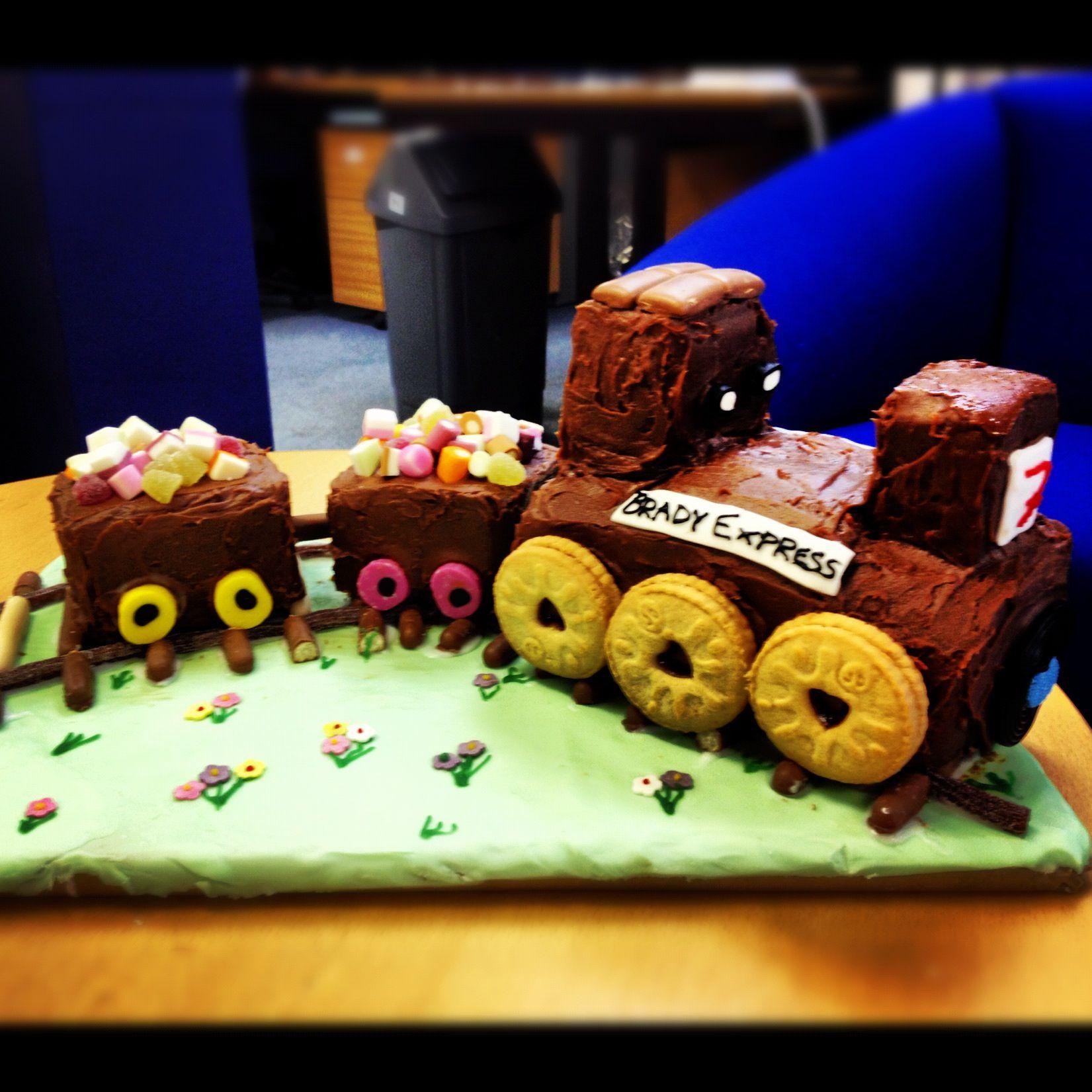 Chocolate train cake train cake childrens birthday