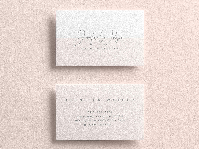 Business Card Template Custom Business Cards Business Card Etsy In 2021 Business Card Design Boutique Business Cards Printable Business Cards
