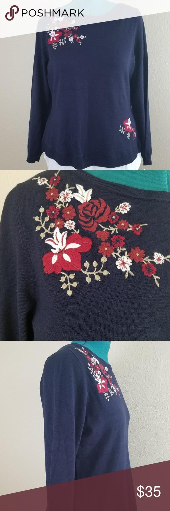 Shirt Sweater Xl Navy White Blouse Combo Nwt In 2018 My Posh Picks