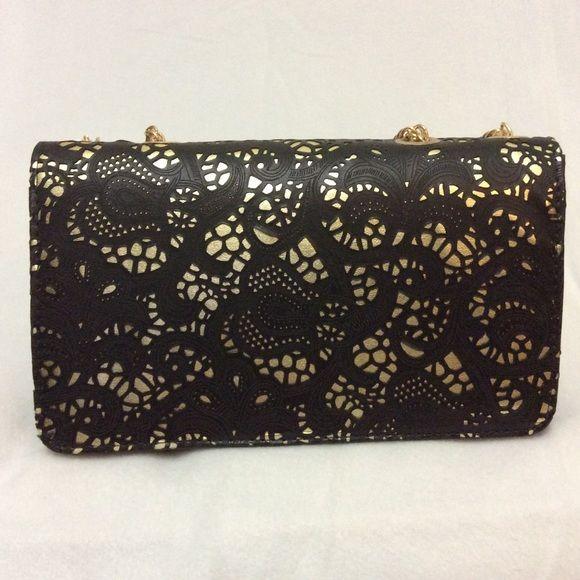 Spotted while shopping on Poshmark  Black and gold purse!  poshmark   fashion  shopping  style  No Brand  Handbags 9add23ccfe