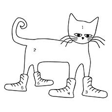 Pete The Cat Coloring Page Guitar