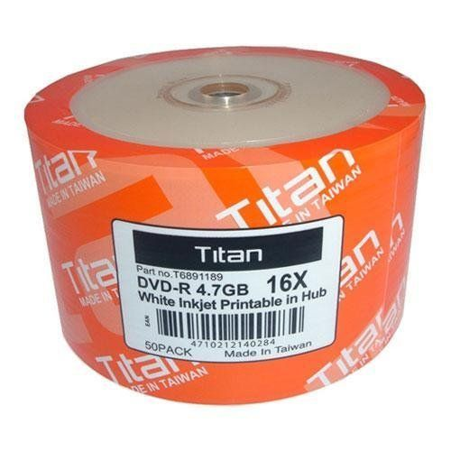 Titan White Inkjet Hub Printable 16x Dvd R Media 50 Pack In Plastic Wrap By Titan 12 99 Titan Duplication Grade 16x Dvd R White Inkj Inkjet Plastic Wrap Dvd