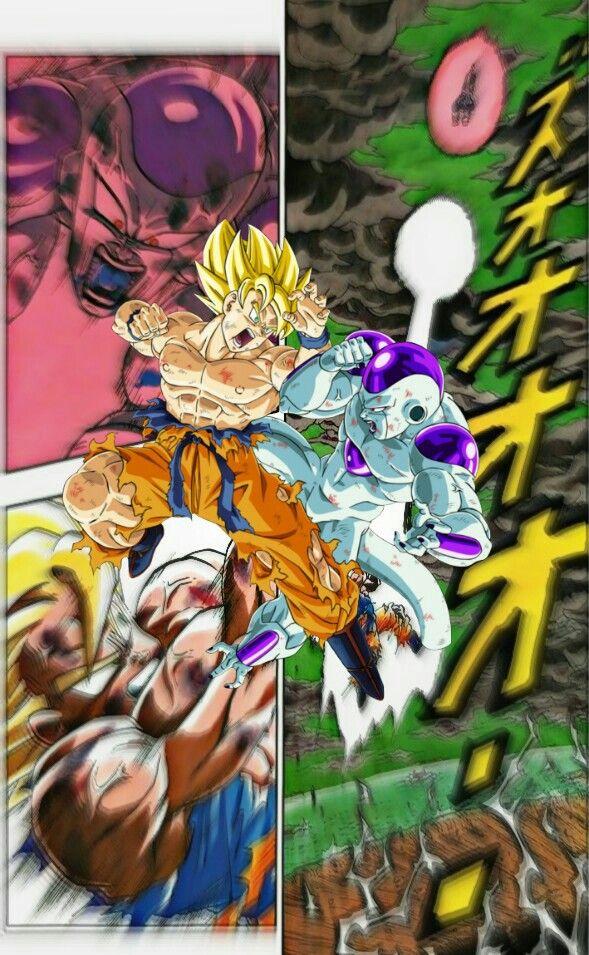 Dragon Ball Z Hashtags: Goku Vs Freezer Namek Manga