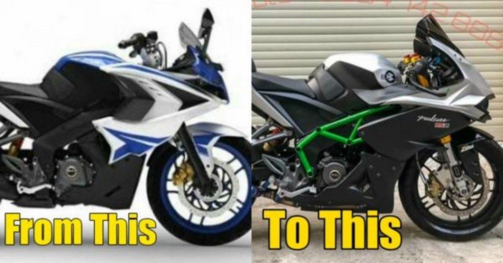 Pulsar Rs 200 Modified With Kawasaki Ninja H2r Inspiration
