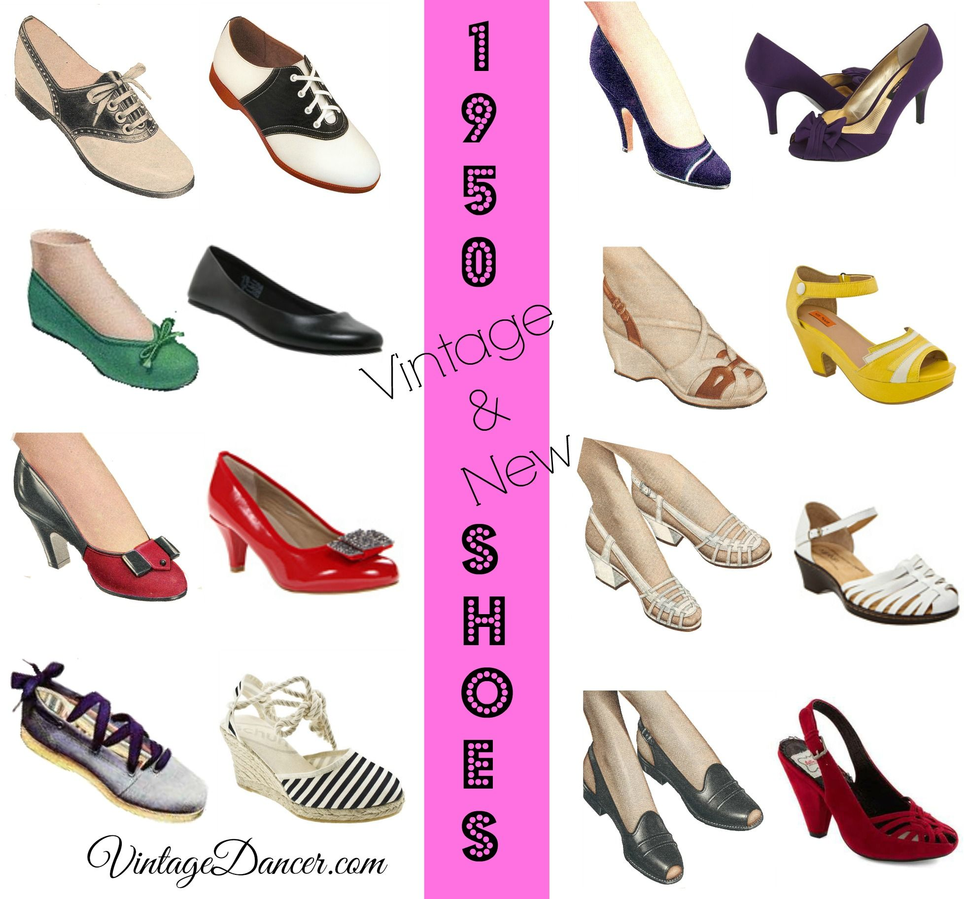 1950s Shoe Styles History And Shopping Guide 1950s Shoes 1950s Fashion Shoes Shoe Style