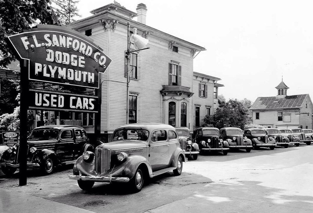 F I Stanford Dodge Plymouth Used Car Lot Old Motor