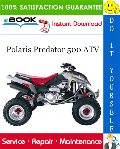 2003 Polaris Predator 500 Atv Service Repair Manual Repair Manuals Predator Atv