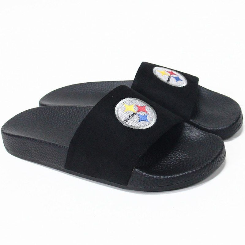 163808ce25d5 Pittsburgh Steelers Cuce Women s Slide-On Sandals