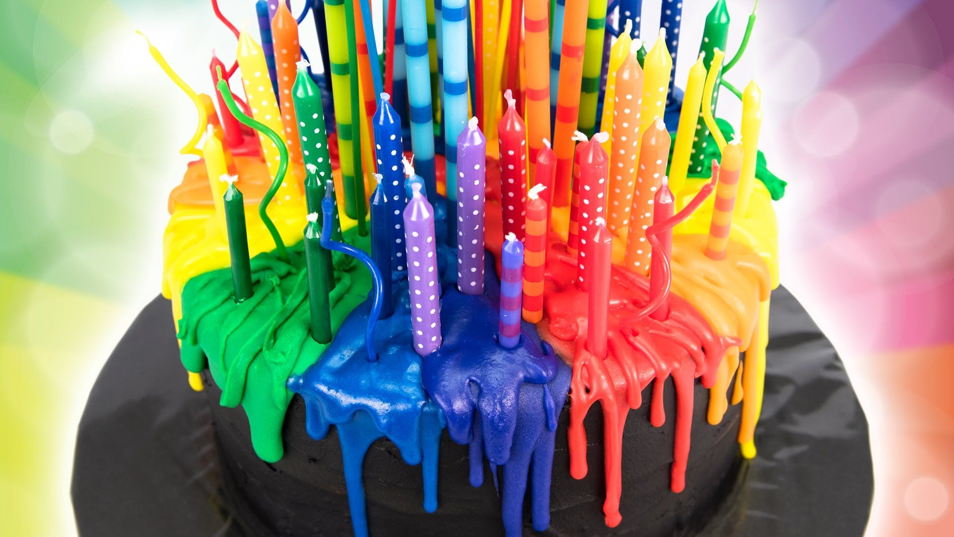 Read the blog post here httpcookiescupcakesandcardiop melting candle rainbow cake birthday cake from cookies cupcakes and ca i really want to try this but im not so fantastically sure about the number of sciox Image collections