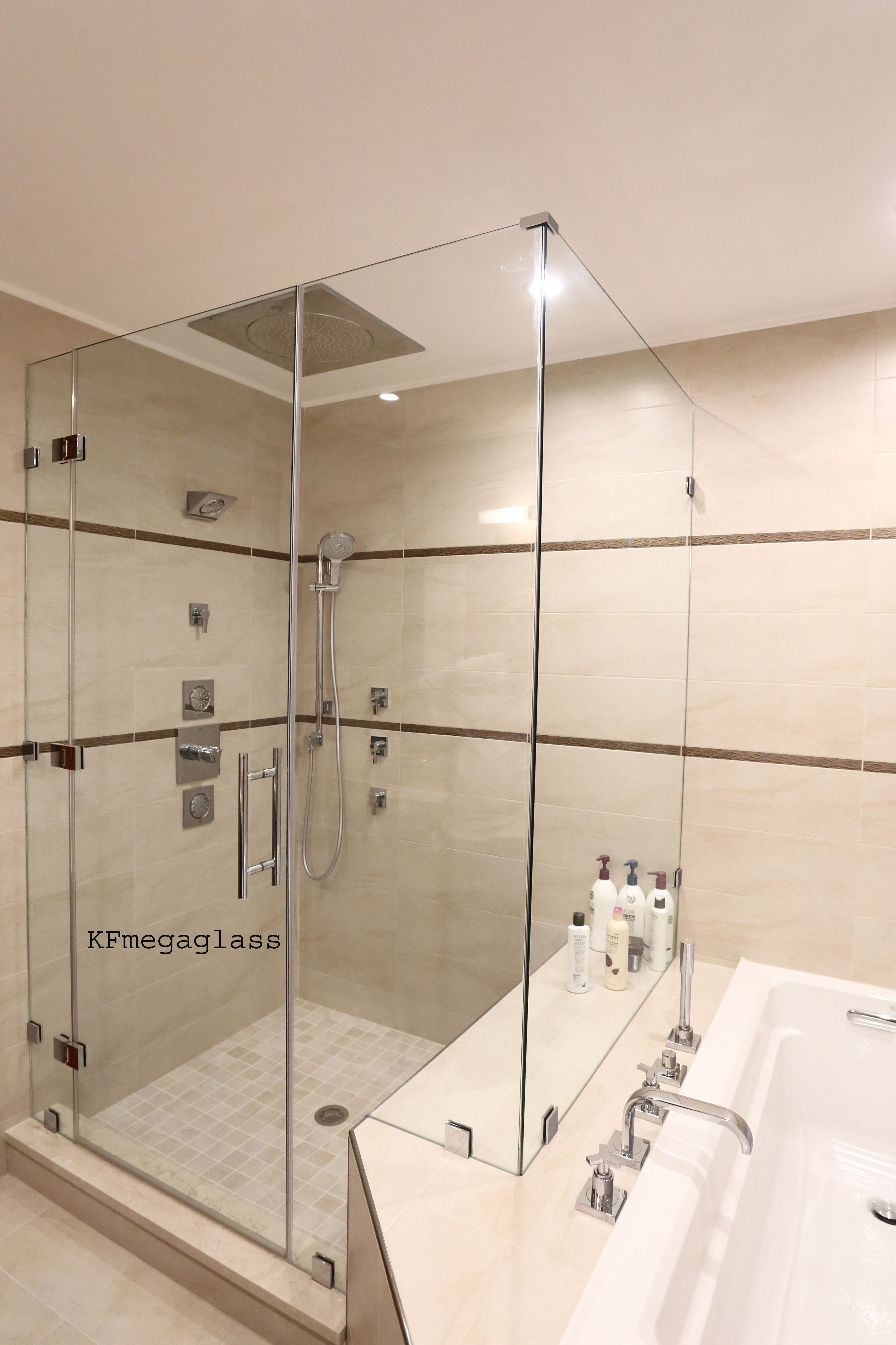 Frameless Shower Doors Are Made To Order Giving Every Client The