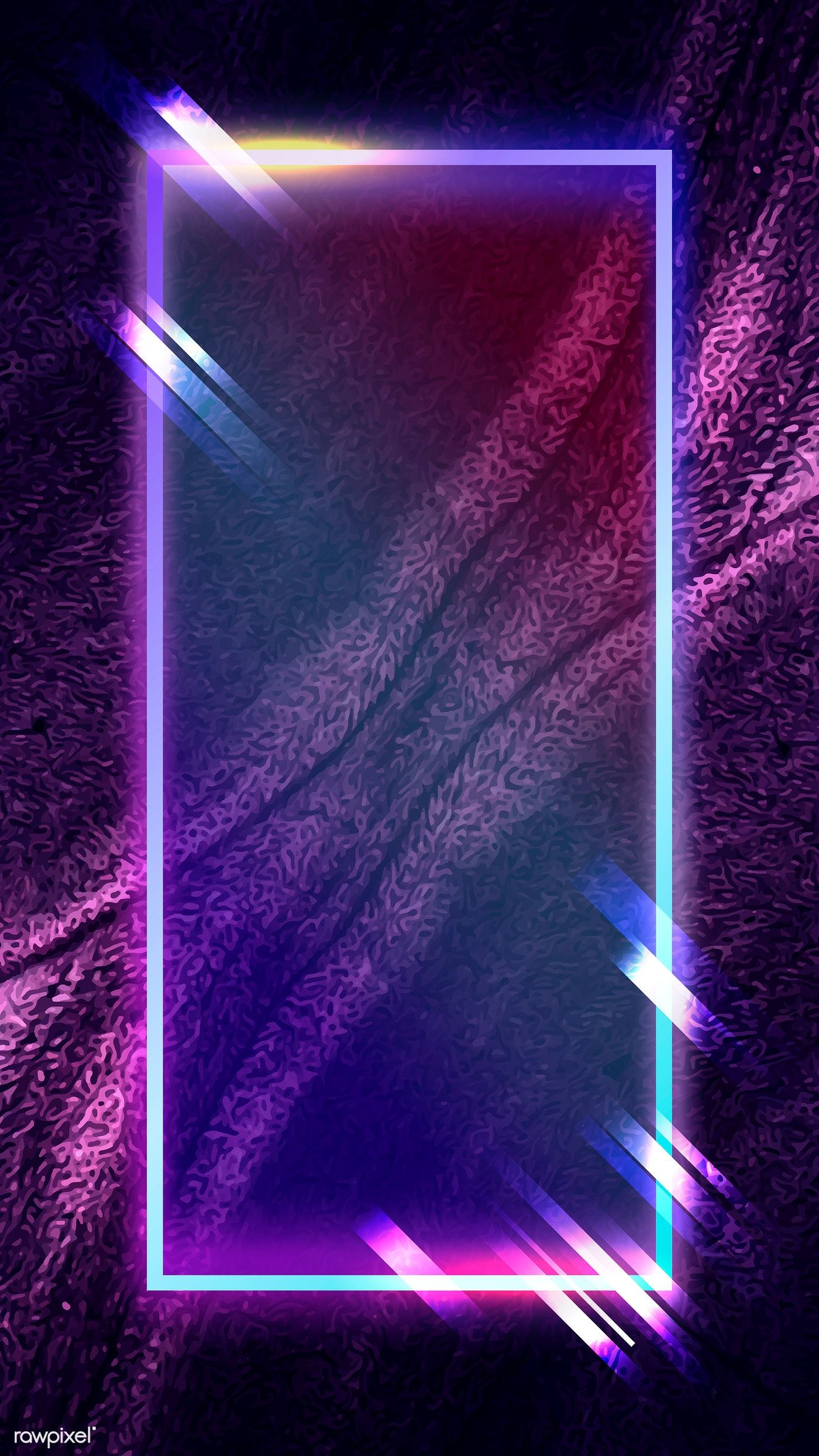Rectangle Frame On Abstract Mobile Phone Wallpaper Vector Premium Image By Rawpixel Com Kenbaolocpro Simple Background Images Abstract Neon Wallpaper