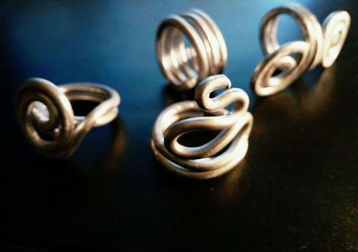 Anelli a spirale - Anelli Wireart - un prodotto unico di GabriEL-Bijoux-Creations_ su DaWanda