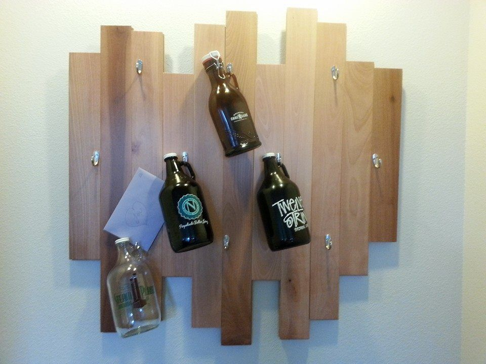 Homemade Growler display / holder wooden wall art | Handy ...