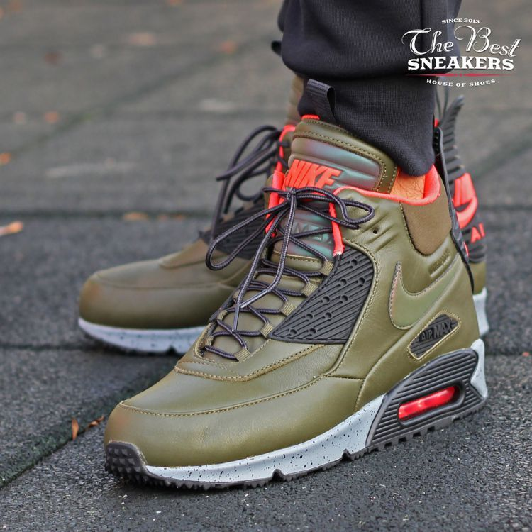 buty nike air max 90 sneaker boot winter dark loden color