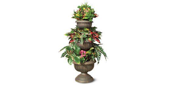 Aldi S Gardenline 3 Tier Planter Flower Pots 640 x 480
