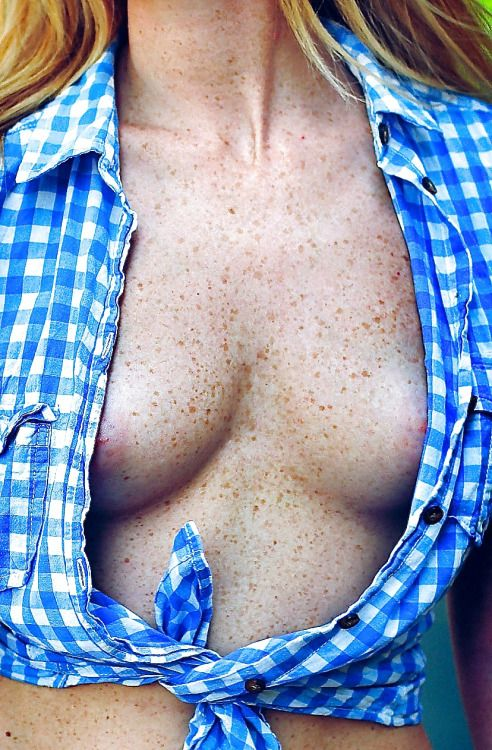 Flat chested freckles