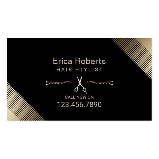Hair stylist beauty salon modern black gold business card hair stylist beauty salon modern black gold business card colourmoves