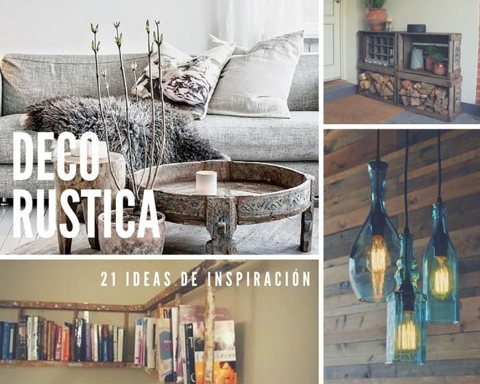 21 ideas rusticas para decorar tu casa reciclar para for Decoraciones rusticas para el hogar