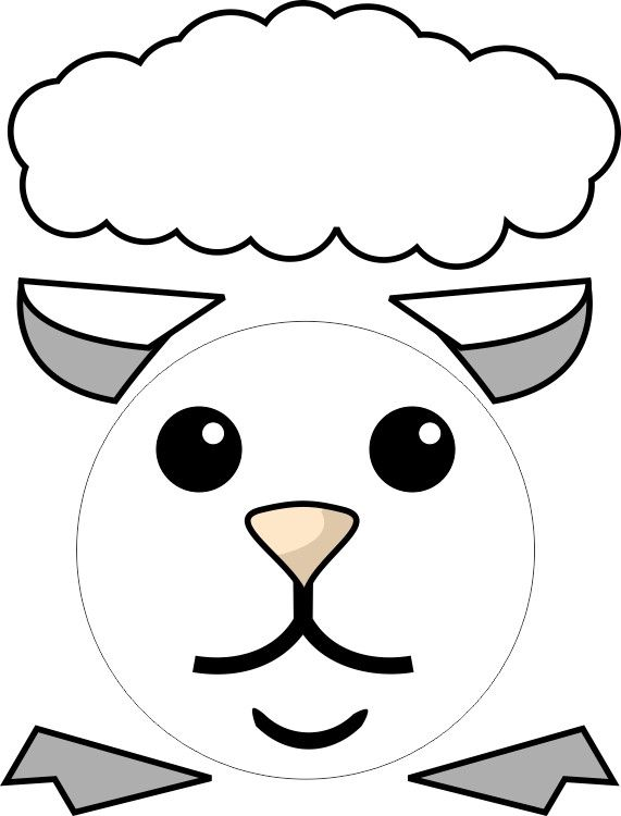 Paper plate lamb h sv thoz pinterest lambs patterns for Cardboard sheep template
