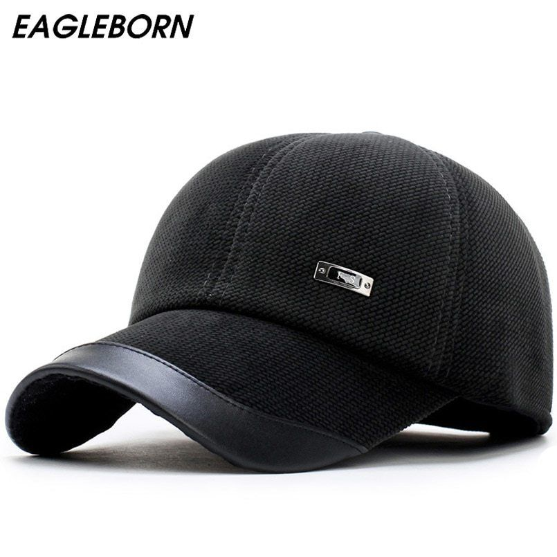 4ab6a659079 New autumn winter men s baseball cap keep warm corduroy male hat with  protective ear thickening polar fleece lining snapback hat now available on  Affordable ...