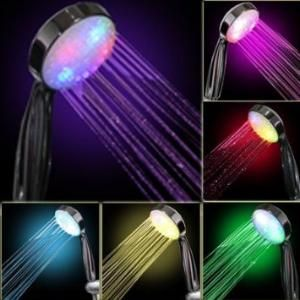 7 Color Led Disco Shower Head Led Shower Head Shower Heads Romantic Lighting