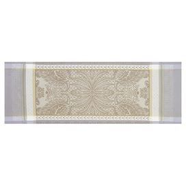 Floral cotton table runner.Product: Table runnerConstruction Material: 100% CottonColor: PlatineFeatures: