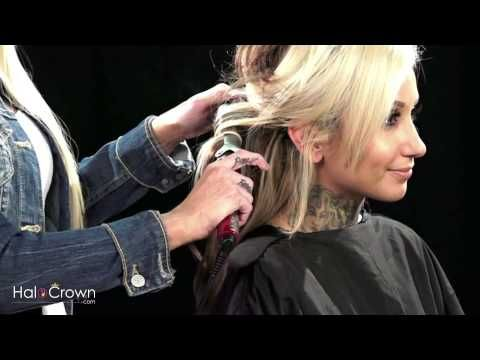 How to curl your halo crown hair extensions beauty hair how to curl your halo crown hair extensions pmusecretfo Choice Image