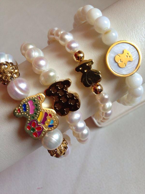 dc266ebccfd8 TOUS pulseras de perlas de río. | CUTE Bisuteria | Joyas tous ...