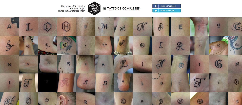 Human Rights Tattoo The Universal Declaration Of Human