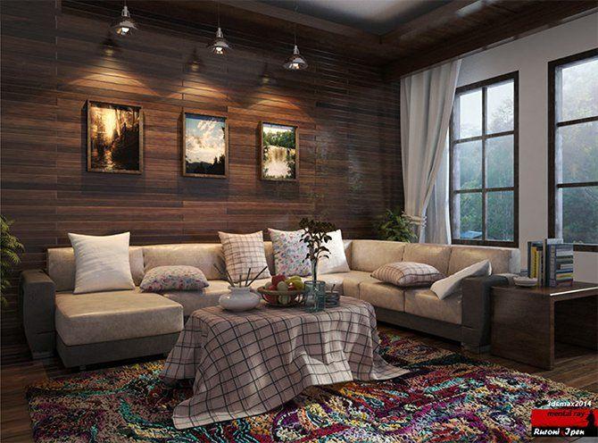 """CGTalk - 3ds Max Tutorial : Rendering """" Morning at Living Room"""