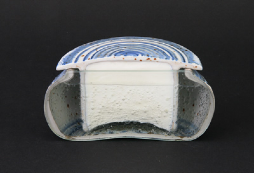 you have a furious section through a water cooled french butter dish
