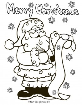 Printable Santa Claus Christmas Wish List Coloring Pages For Kids Free Online Christmas Santa Coloring Pages Christmas Coloring Sheets Christmas Coloring Books