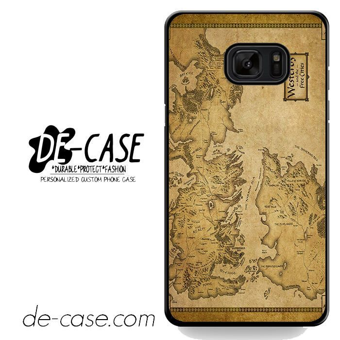 Game Of Thrones Map DEAL-4573 Samsung Phonecase Cover For Samsung Galaxy Note 7