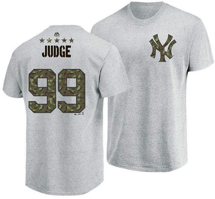 huge discount c9e28 5e0d6 Majestic Men's Aaron Judge New York Yankees Camo Player T ...