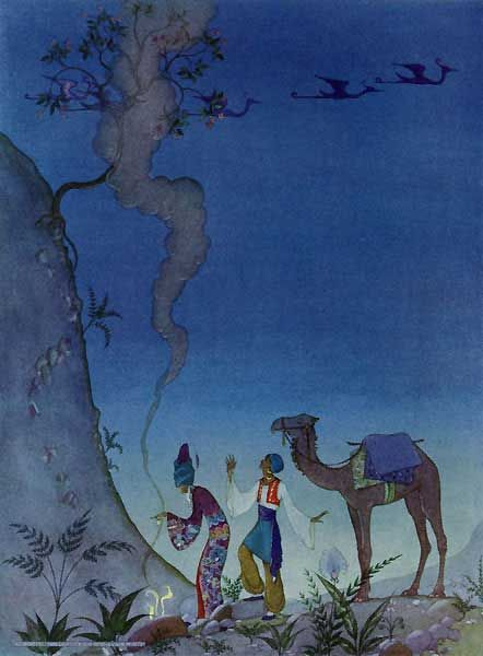A thick cloud arose.  Virginia Frances Sterrett   The Story of Baba Abdallah