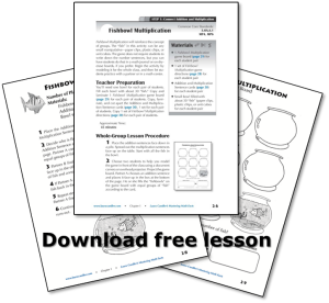 Free Fishbowl Multiplication Lesson from Mastering Math