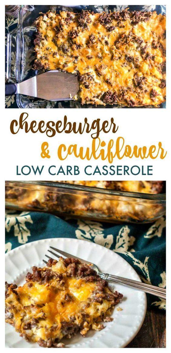 Low Carb Cheeseburger & Cauliflower Cauliflower images