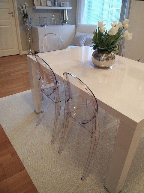 Kartell Tavoli Da Pranzo.3 Kartell Victoria Ghost Chairs Casa Blogit Oma Koti Valkoinen