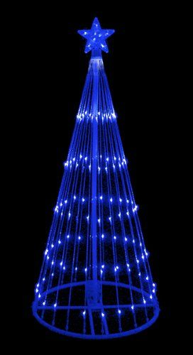 6 blue led light show cone christmas tree lighted yard art 6 blue led light show cone christmas tree lighted yard art decoration find out more workwithnaturefo
